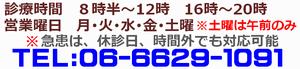 中橋整骨院の営業時間・曜日と電話番号の画像
